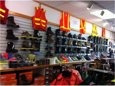 View of Safety Products nside Corner Brook Store